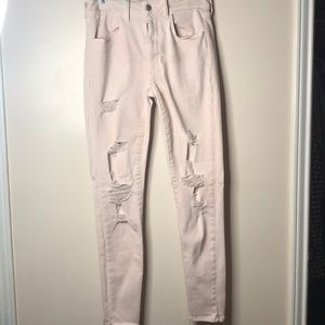 American Eagle Pale Pink Jeans